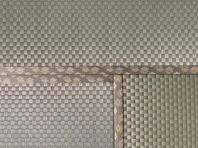 市松柄畳表のアップ画像