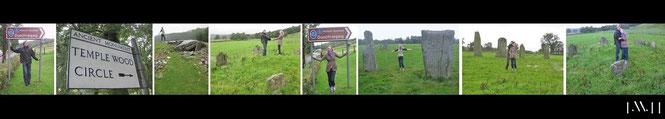 Schottland im Dauerregen: Dunchraigaig und Temple Wood sowie Standing Stones of Ballymeanoch...