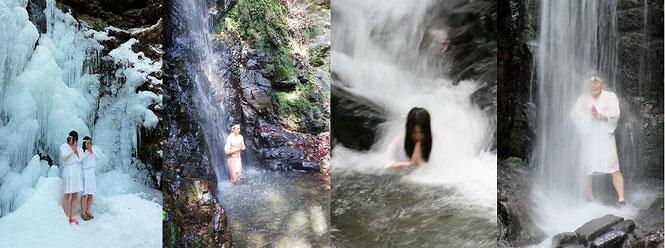 東京都西多摩郡檜原村 龍神の滝 九頭龍の滝  一年を通じて滝行を行っています