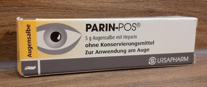Heparin Augensalbe, auch Parin Pos genannt (Abbildung)