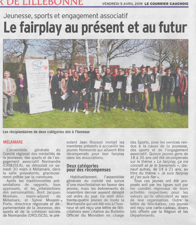 LE COURRIER CAUCHOIS 5 avril 20.19
