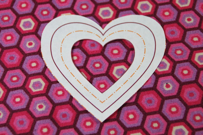 Schnittmuster Herz, Applikationsvorlage, Herzschnittmuster