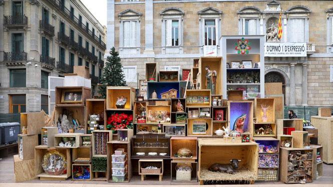 Рождественский вертеп Барселоны