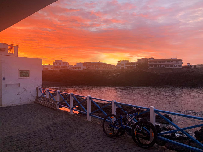 sunset in El Cotillo