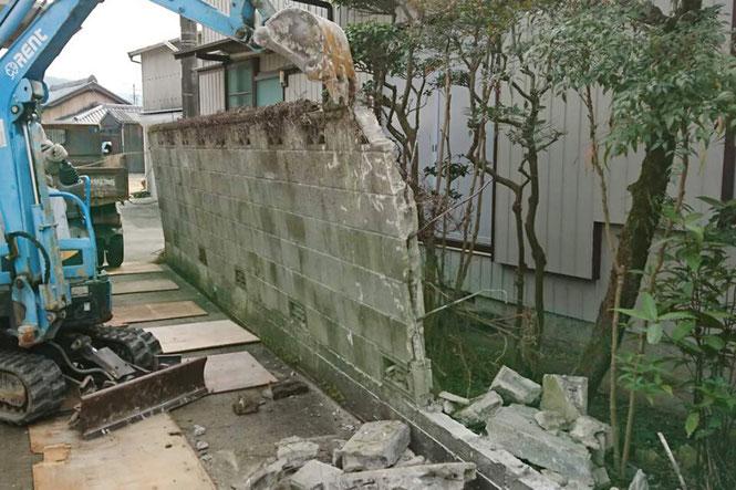 関東,木造解体工事,様子