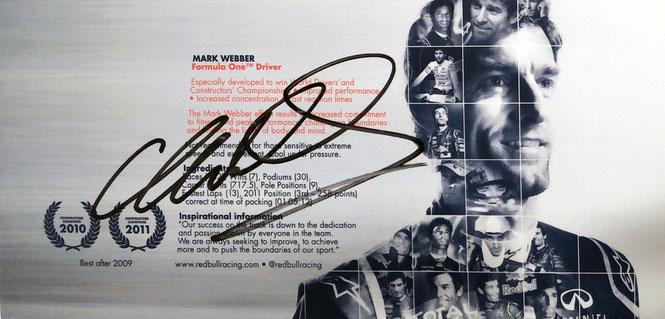 Autograph Mark Webber Autogram