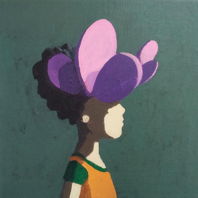 like a flower - Acryl auf Leinwand, 20x20cm, 2019 | verkauft