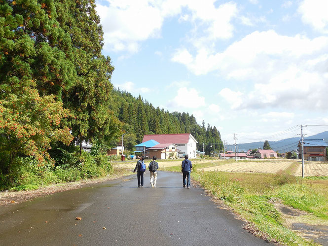 由利本荘市鳥海地区、上野宅地区にて(2015年10月)