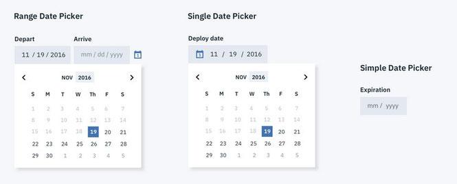 Beispiel: Date-Picker-Optionen