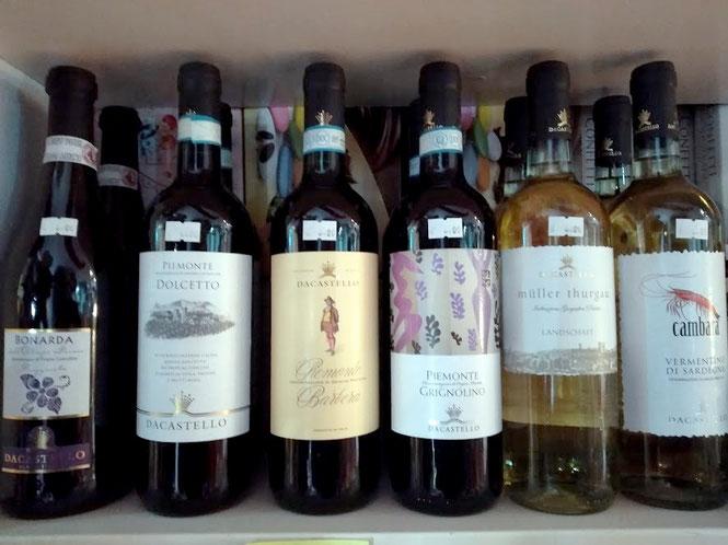 Selezione di vini Piemontesi