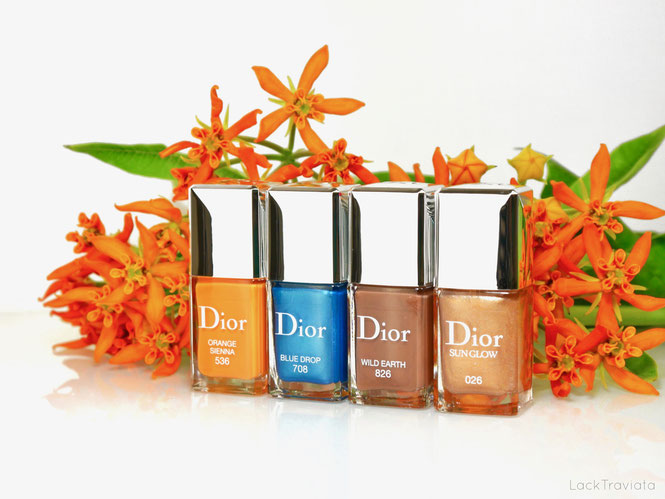 Dior • ORANGE SIENNA 536 • BLUE DROP 708 • WILD EARTH 826 • SUN GLOW 026 • Dior Wild Earth Collection • Summer 2019