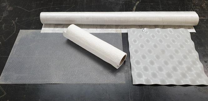 Verschiedene Oberflächen zu Herstellung von 3D Fliesen