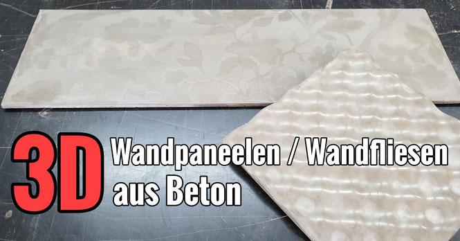 Wandpaneelen / Wandfliesen aus Beton selber bauen