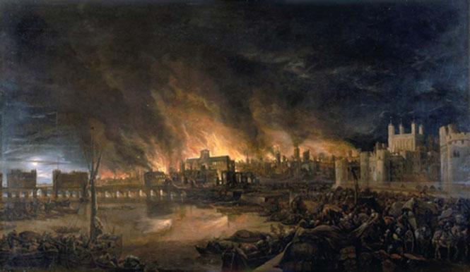 Le grand incendie de Londres (1666)
