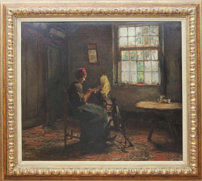 te_koop_aangeboden_een_interieur_schilderij_van_de_nederlandse_kunstschilder_roeland_larij_1855-1932_haagse_school