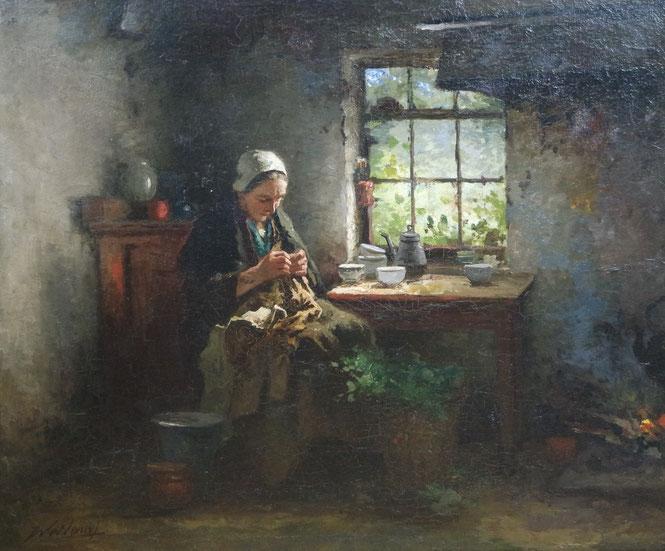 te_koop_aangeboden_bij_kunsthandel_martins_een_schilderij_van_johannes_weiland_1856-1909_verwant_aan_de_haagse_school