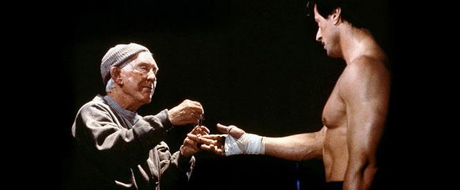Rocky und sein Trainer Mikey