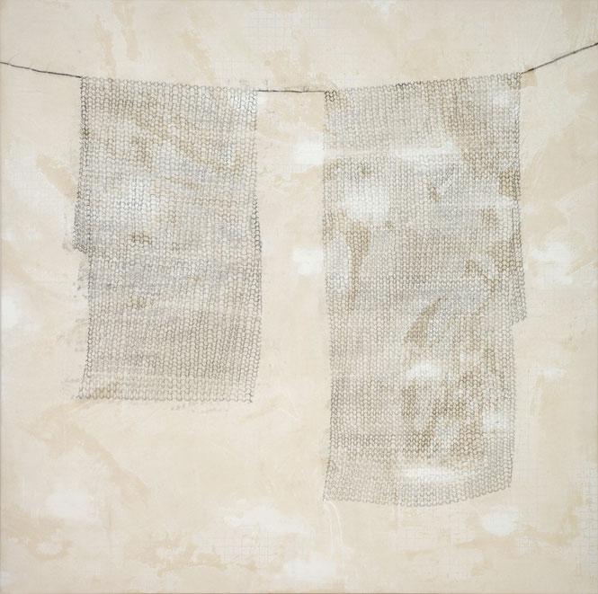 o. T. II (Verstrickung) Monotypie auf Leinwand, 140 x 140 cm, 2012
