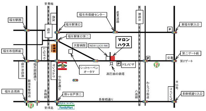 マロンハウス地図