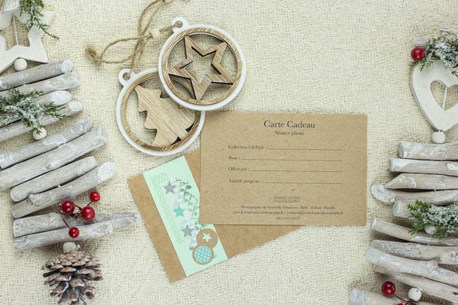 Carte Cadeau Noël pour séance photo - Jérémy Legris Photographe - Grenoble
