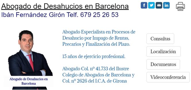 Abogado de Desahucios por Impago de Rentas en Barcelona Capital.