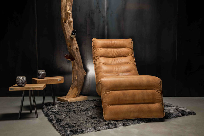 Schwarzer Designer Leder Sessel