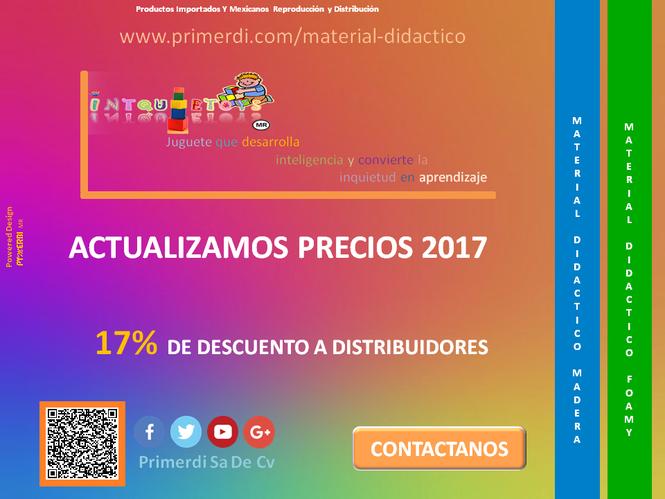 precios y catalogo 2017 de material didactico