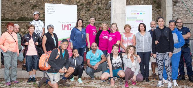 Monique Aravecchia Isabelle Berthelot Balade solidaire fondation Groupama Santé association LMC France Mina Daban ville de Gémenos partenaire Gem Tri Athlé Escapado de Gémo