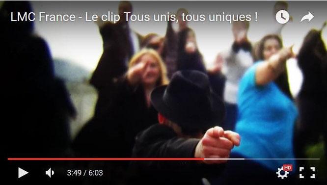 Clip LMC France Tous unis tous uniques Blues Brothers auteur chanteur claude Gratereau musicien