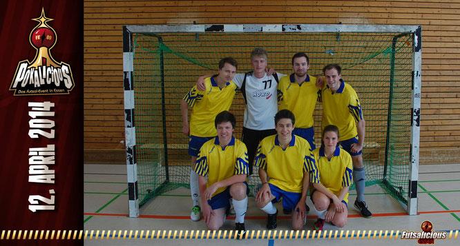 Futsal-Team Hochschulsport Uni Bielefeld (Foto: Valchev / Grafikdesign: Berger)