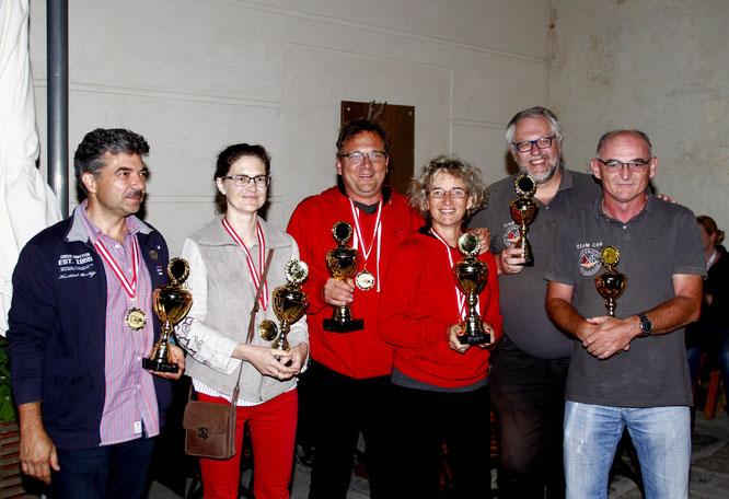 Die Sieger der Wienerwaldclassic 2018: v.l.n.r. Csaszar Levente , Csaszar Edina , Frey Christian, Hüttinger Michaela, Riedl Gerhard, Stumpf Michael