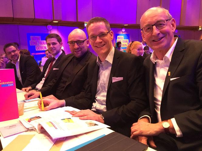 Die Delegierten des Kreises Gütersloh (v.l.n.r.): Rainer Gellermann, Patrick Büker, David Luge, Thorsten Baumgart, Hermann Ludewig