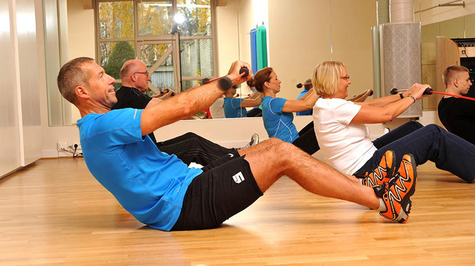 Firmensport Training mit dem Flexi-Bar