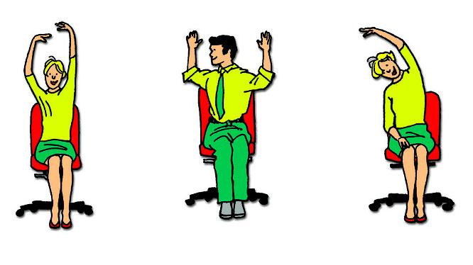 Rückenübungen am Arbeitsplatz