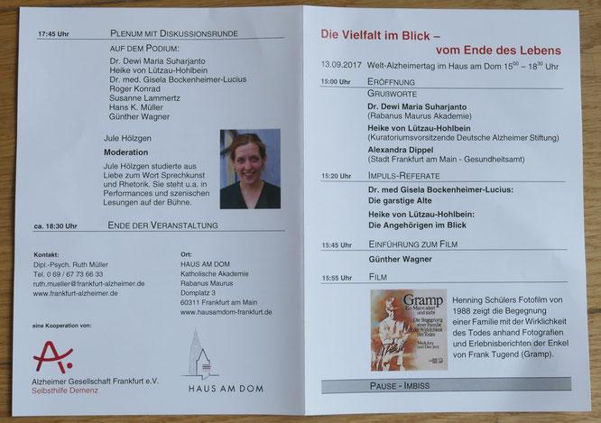 AGFFM - Blick ins Programm