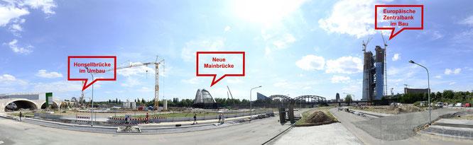 Neue Mainbrücke im Frankfurter Osten © mainhattanphoto