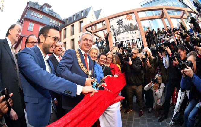 Eröffnung der neuen Frankfurter Altstadt Bildquelle: Stadt Frankfurt © Rainer Rüffer