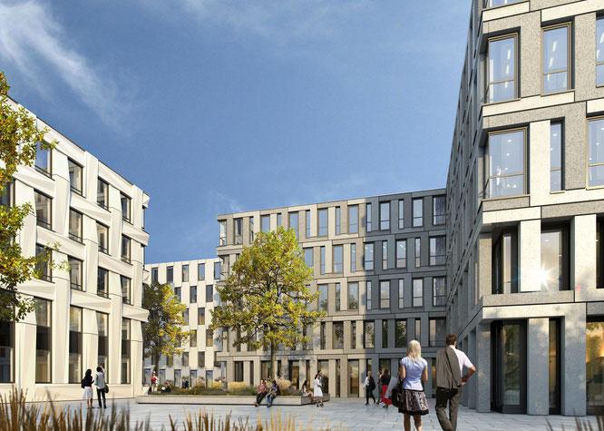 Quelle: Stadtwerke Offenbach Immobilien Büro-Campus OFSITE - Visualisierung © Fischer-Architekten
