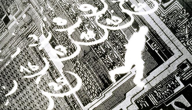 Astrid Klein, Gedankenchips, 1983 - Bildquelle: DZ BANK Kunstausstellung