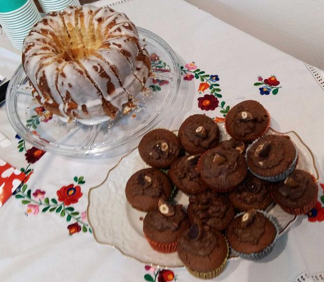 Nur das Beste für meine Gäste: Sandkuchen und Toffifee-Nutella-Muffins