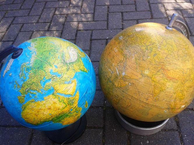 Meine ersten beiden Globusse, äh, Globen