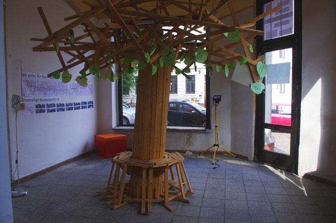 """Noch steht ein """"Baum"""" im künftigen Gastraum des homeLE."""