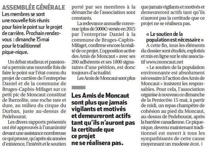 Copie de l'article de la Rép : Les amis de Moncaut . ACCOB solidaire, même combat.