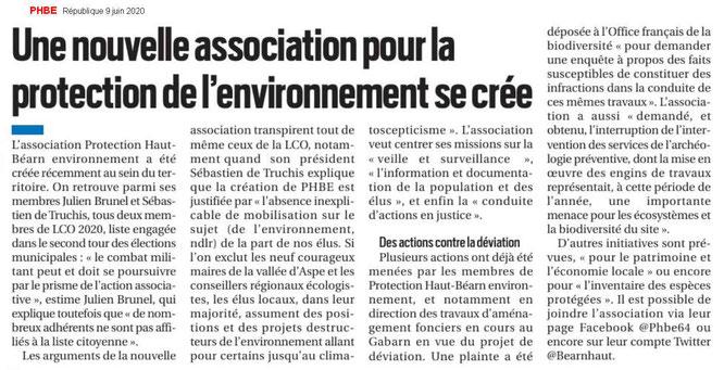 PHBE64 - Nouvelle association de défense de l'environnement à Oloron Sainte Marie par ACCOB Oloron