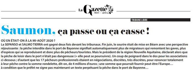 La Gazette du Béarn des Gaves diffusé par l'association d'Oloron-Ste-Marie, l'ACCOB
