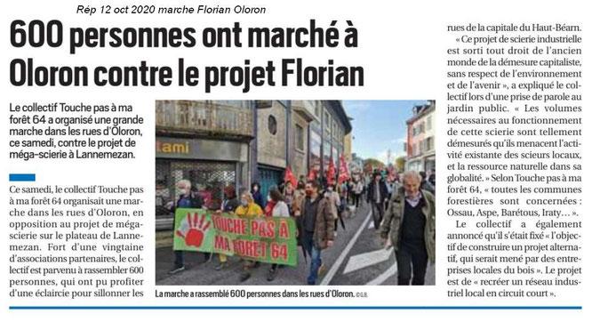 Des citoyens sensibles au devenir des forêts des Pyrénées Atlantiques et contre le projet Florian, destructeur.