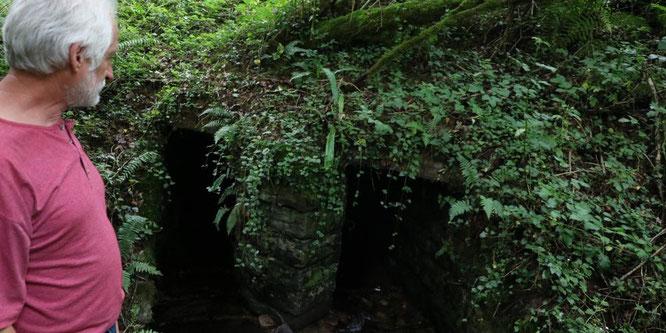 Pont réalisé sous Napoléon III sur l'arrecq du Termy dans la forêt du Bager d'Oloron.