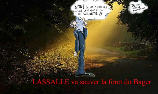 Le Député Jean Lassalle va t-il s'associer au maire pour décimer la forêt ou à l'ACCOB pour la défendre ?