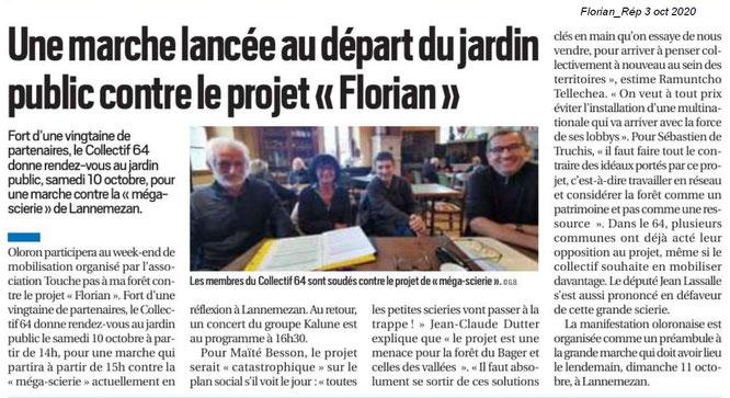Touche pas à ma Forêt- Marche à Oloron Ste Marie contre projet Florian sur la République des Pyrénées