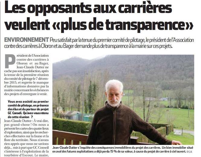 L'ACCOB demande plus de transparence au Maire et élus d'Oloron Sainte Marie